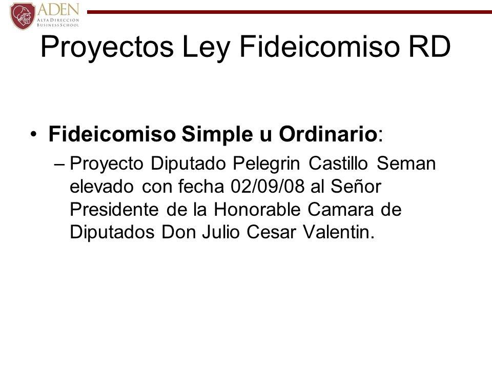 Proyectos Ley Fideicomiso RD