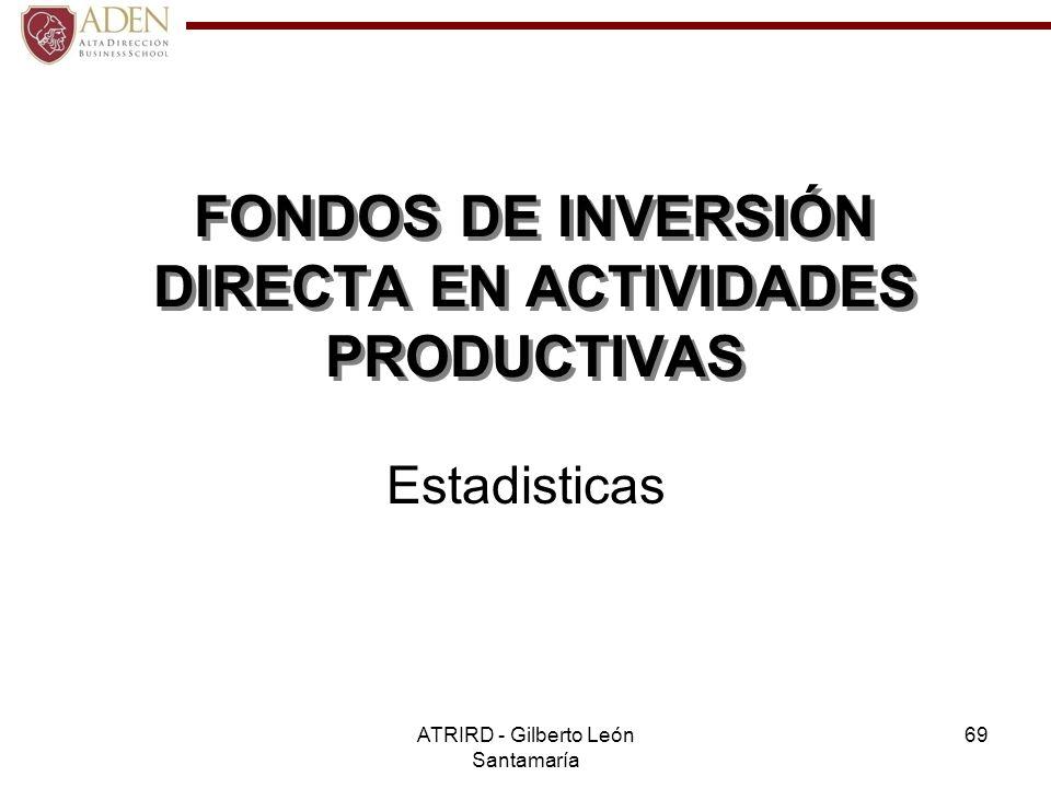 FONDOS DE INVERSIÓN DIRECTA EN ACTIVIDADES PRODUCTIVAS