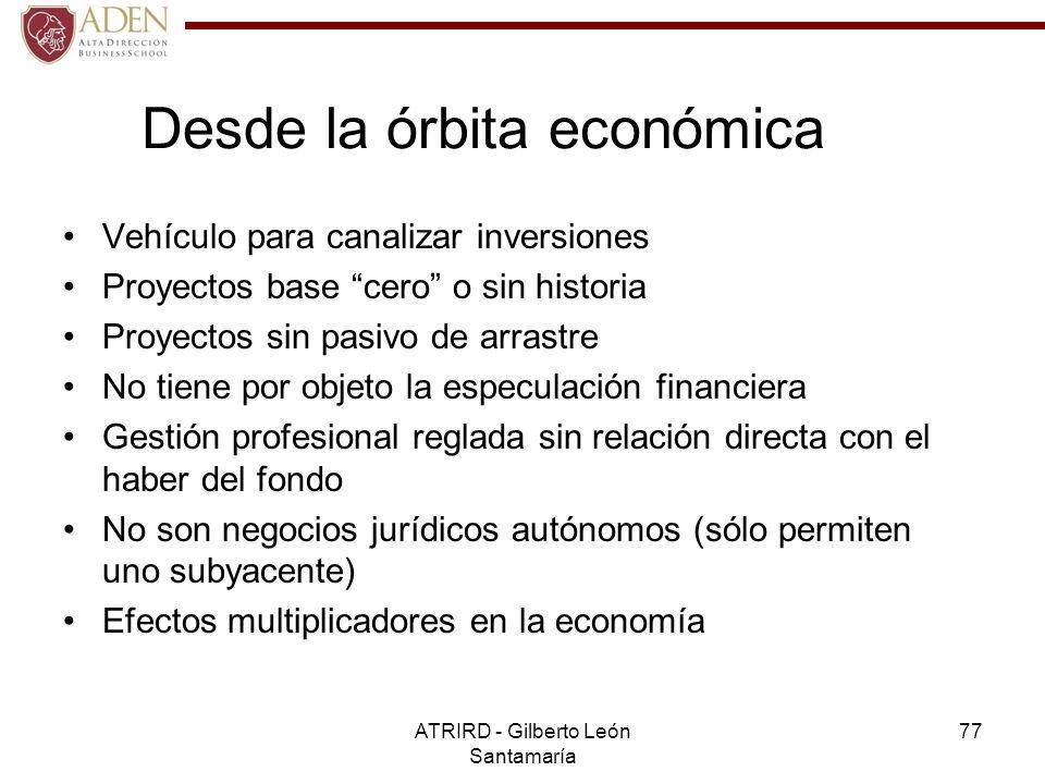 Desde la órbita económica