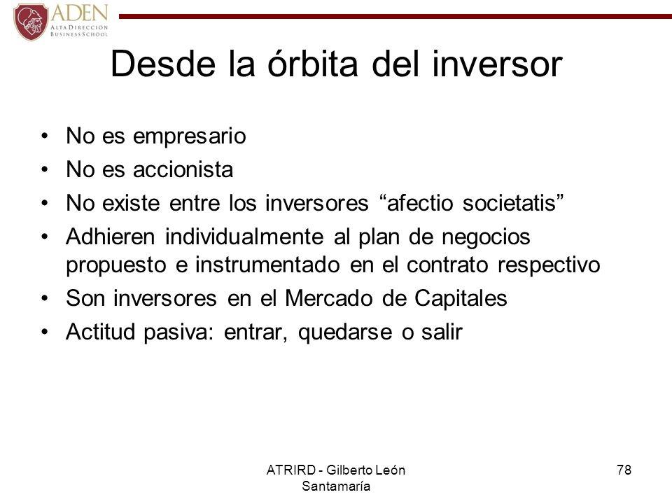 Desde la órbita del inversor