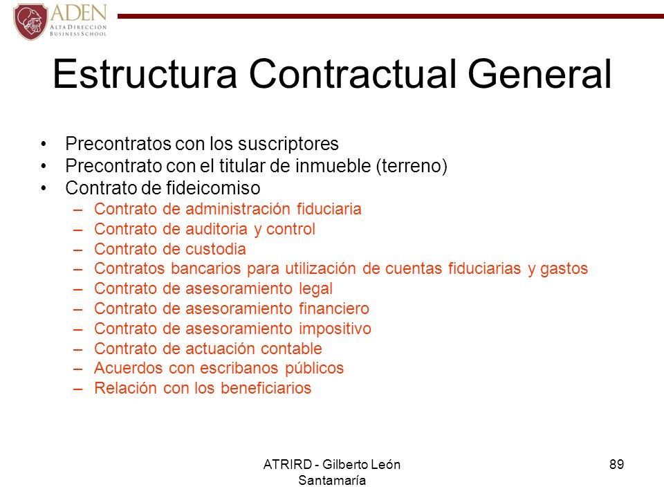 Estructura Contractual General