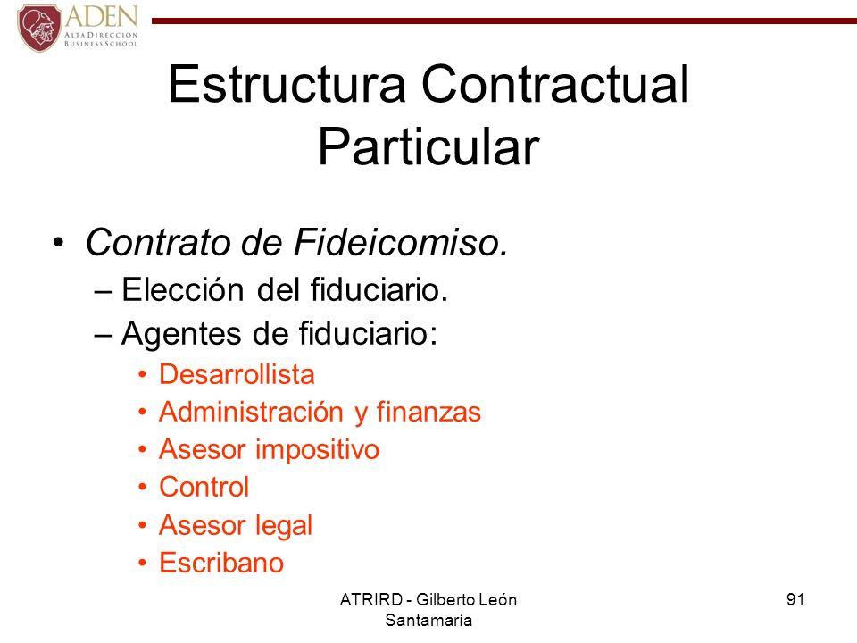 Estructura Contractual Particular
