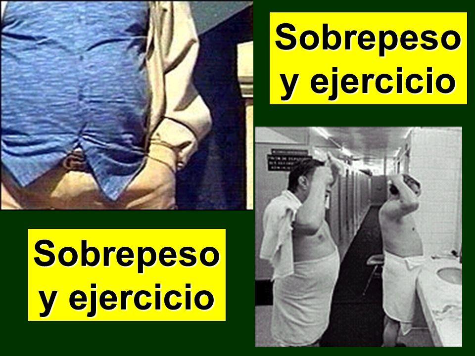 Sobrepeso y ejercicio Sobrepeso y ejercicio