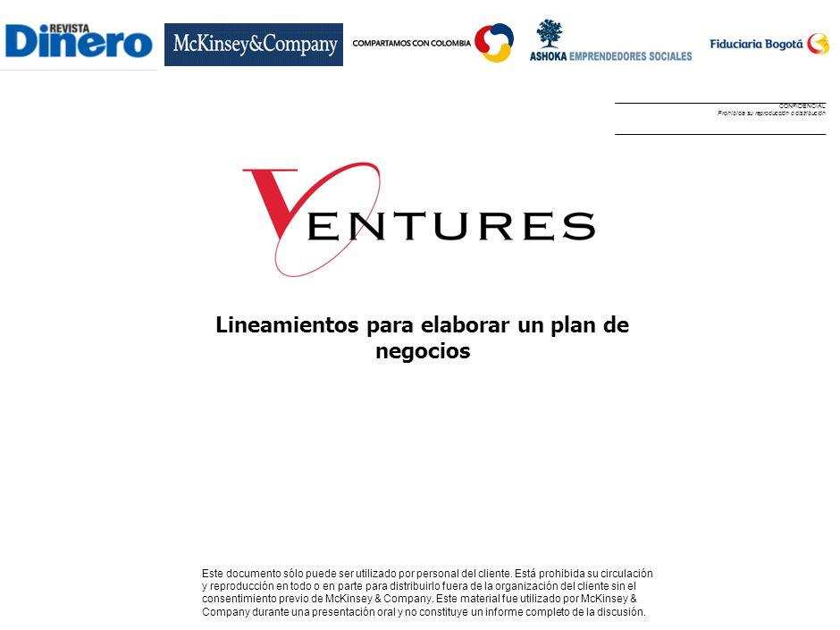 Lineamientos para elaborar un plan de negocios