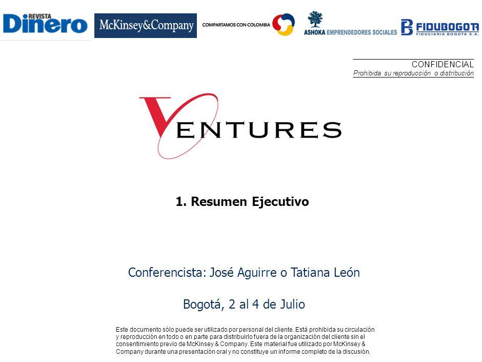 Conferencista: José Aguirre o Tatiana León