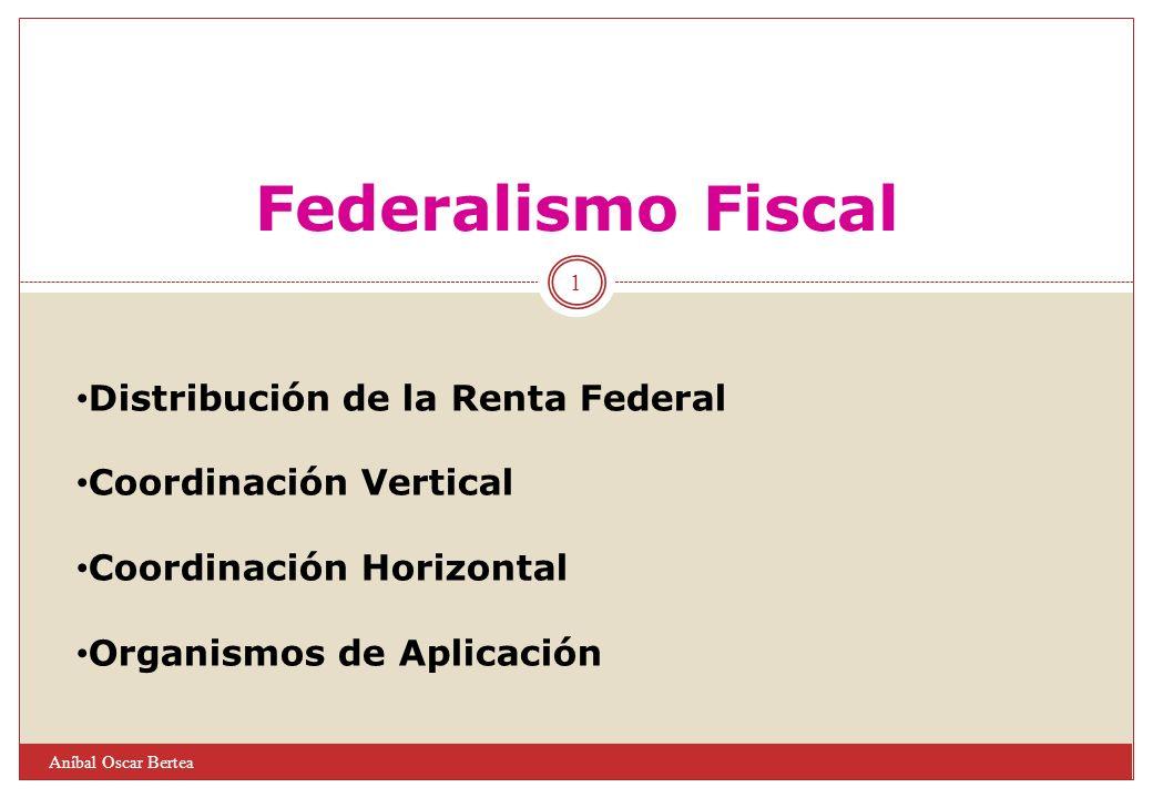 Federalismo Fiscal Distribución de la Renta Federal