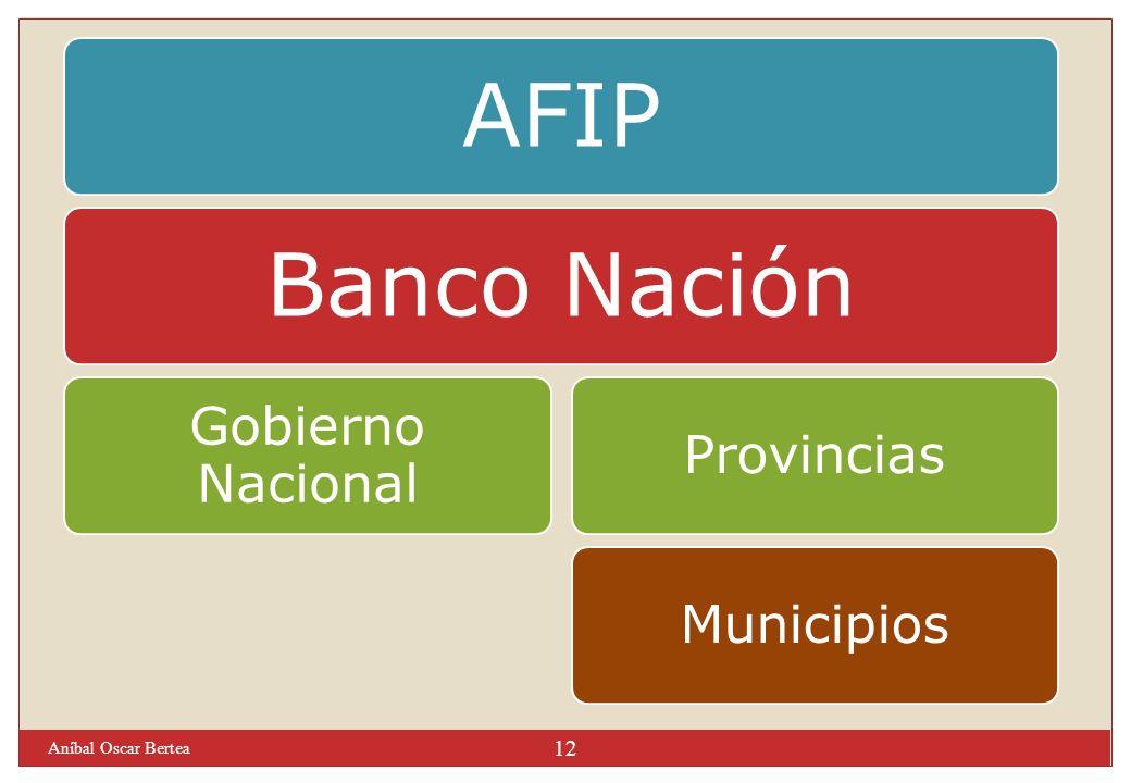 Aníbal Oscar Bertea AFIP Banco Nación Gobierno Nacional Provincias