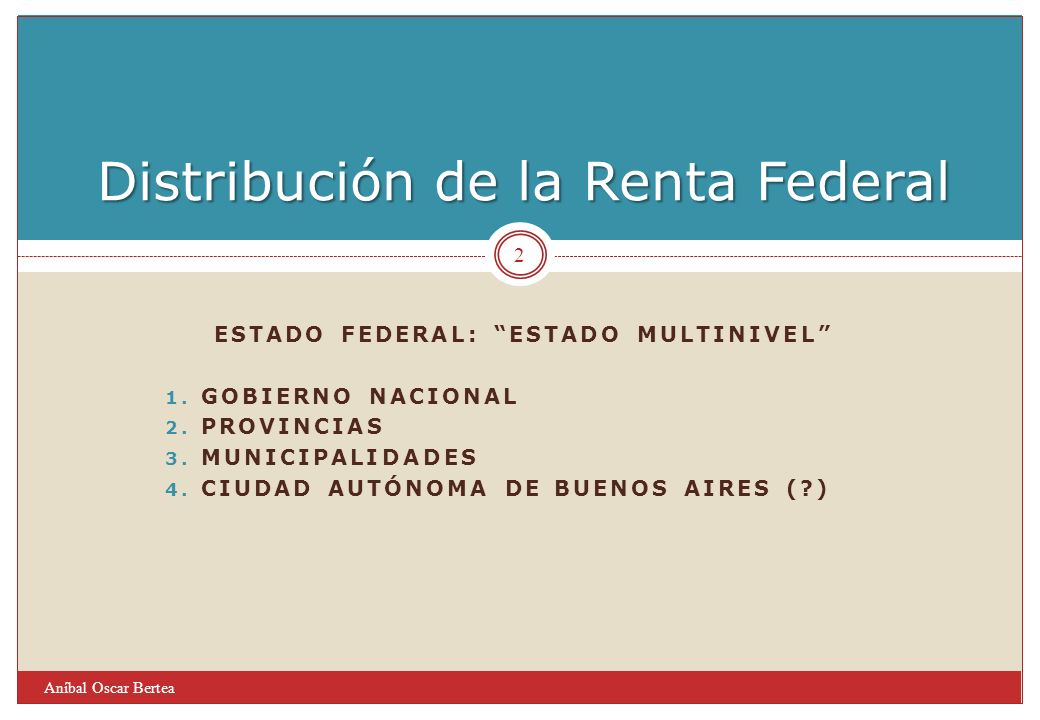 Distribución de la Renta Federal