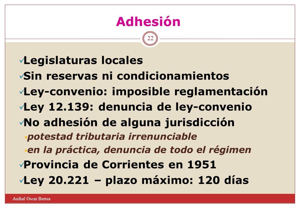Adhesión Legislaturas locales Sin reservas ni condicionamientos
