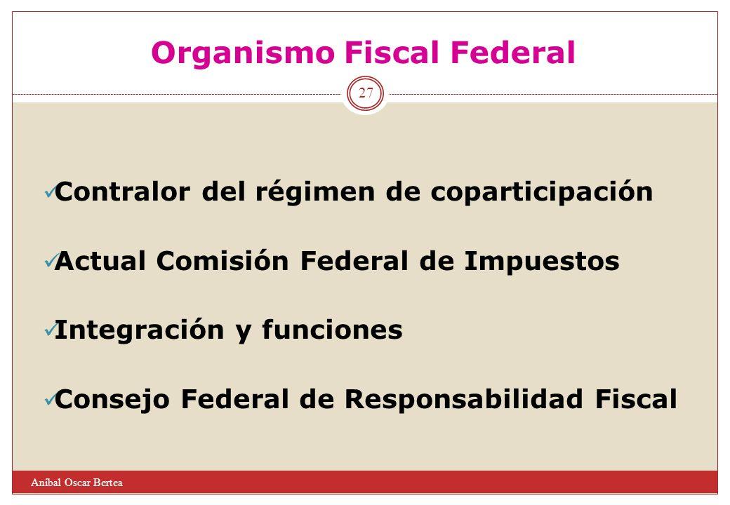 Organismo Fiscal Federal