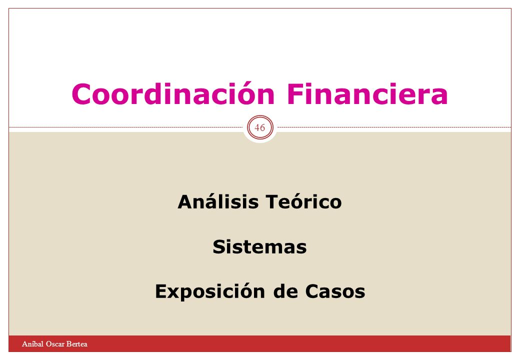 Coordinación Financiera
