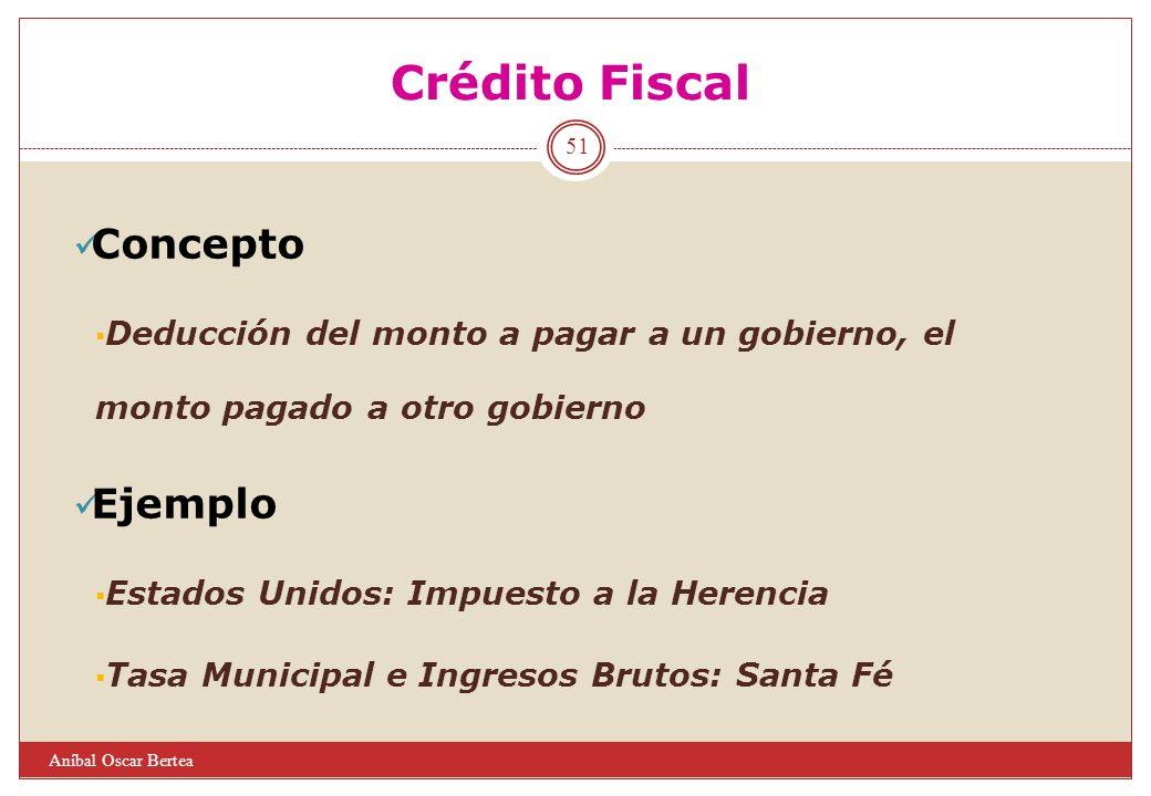 Crédito Fiscal Concepto Ejemplo