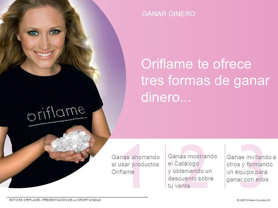 Oriflame te ofrece tres formas de ganar dinero... GANAR DINERO