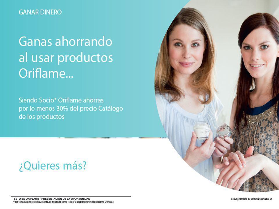 Notas del presentador GANAR DINERO. Ganas dinero ahorrando en las compras de productos Oriflame.