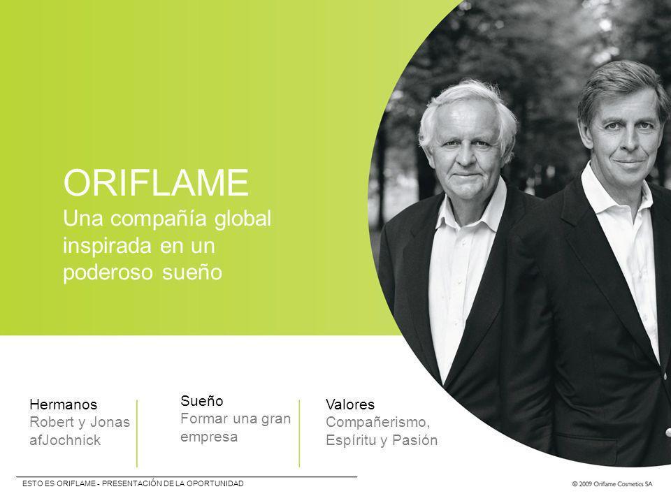 ORIFLAME Una compañía global inspirada en un poderoso sueño Hermanos