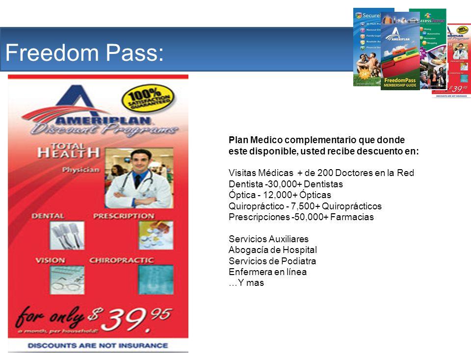 The Company Freedom Pass: Plan Medico complementario que donde