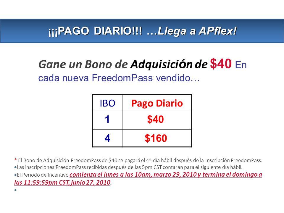 ¡¡¡PAGO DIARIO!!! …Llega a APflex!