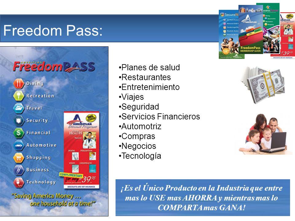 The Company Freedom Pass: Planes de salud Restaurantes Entretenimiento