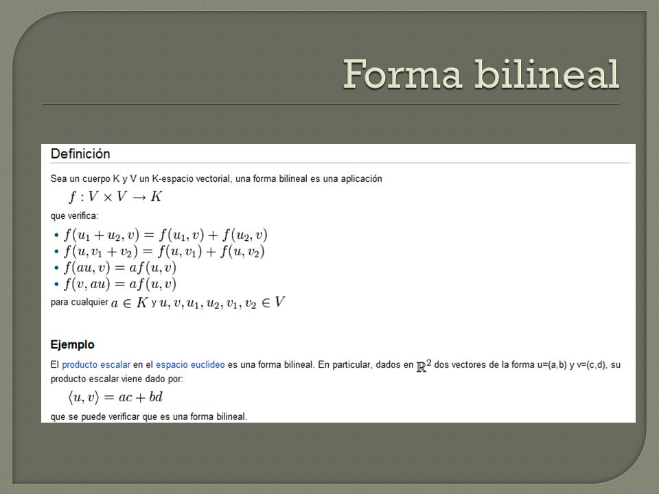 Forma bilineal