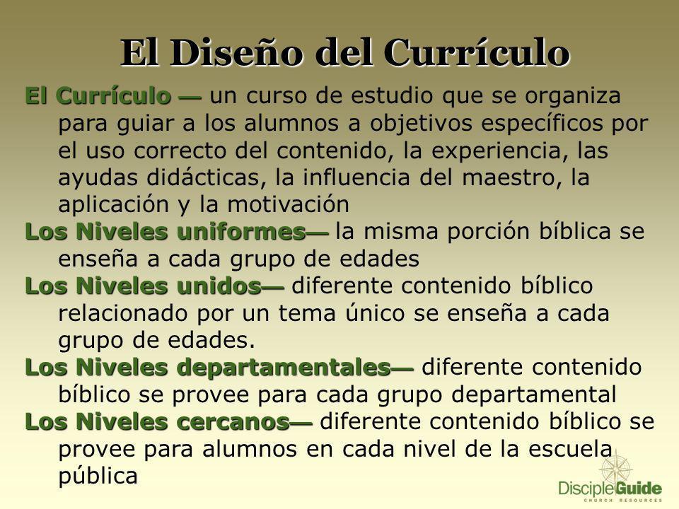 El Diseño del Currículo