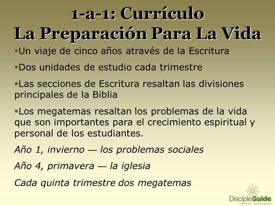 1-a-1: Currículo La Preparación Para La Vida