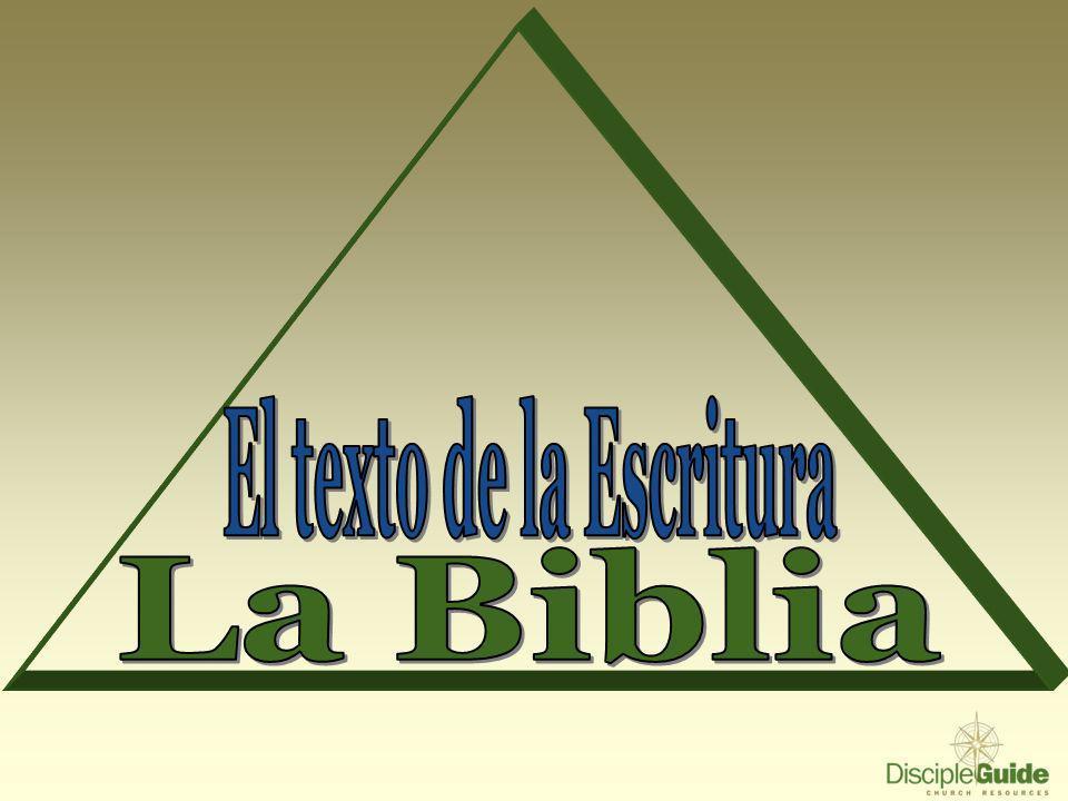 El texto de la Escritura