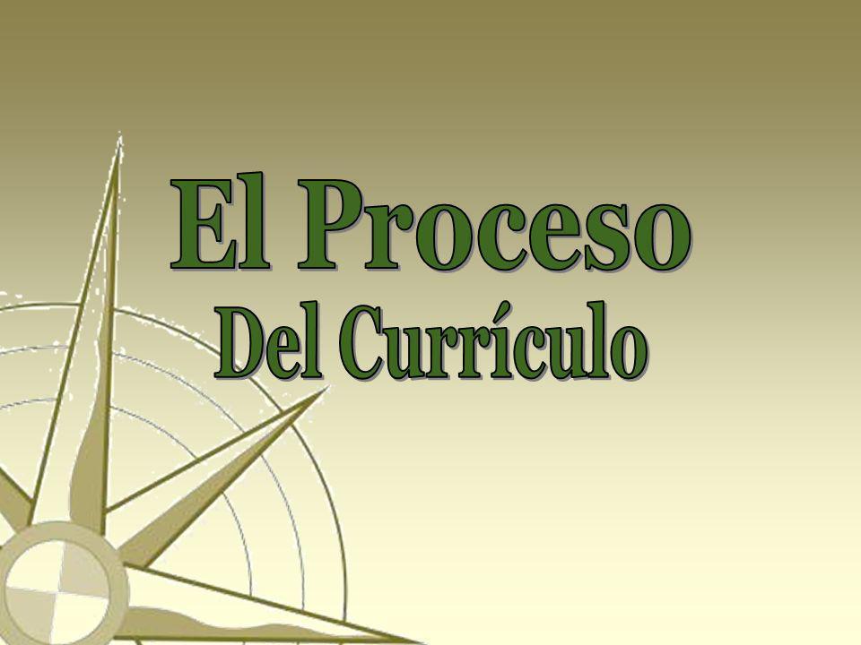 El Proceso Del Currículo