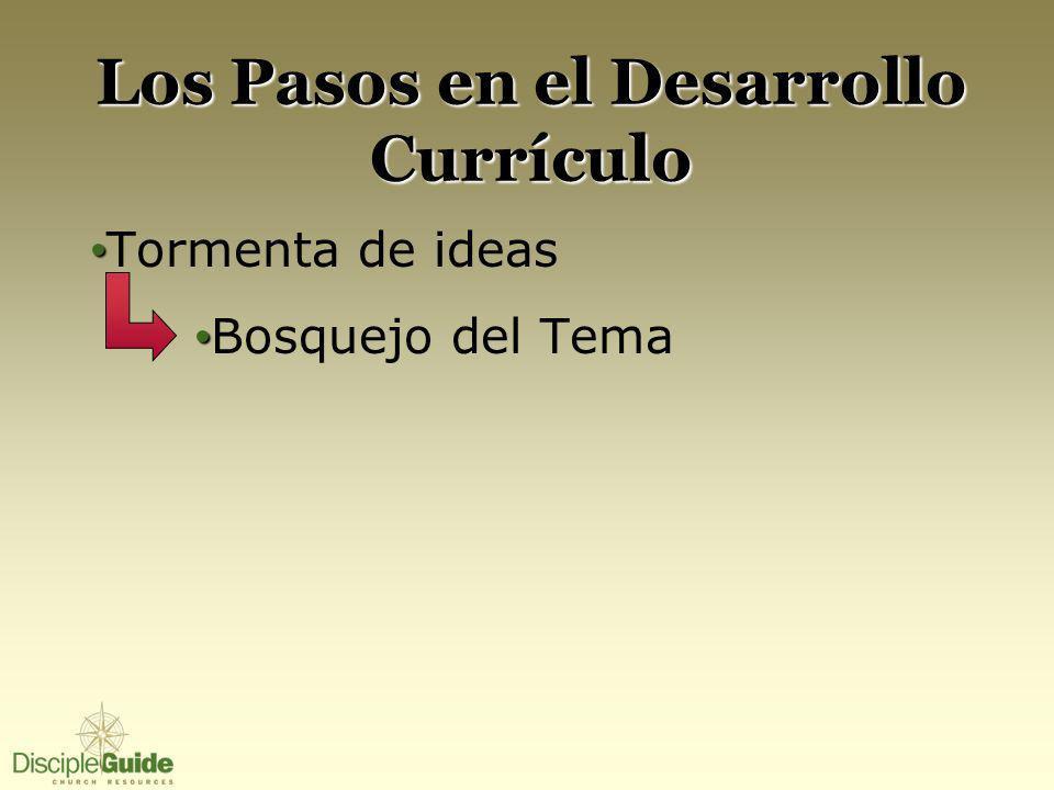 Los Pasos en el Desarrollo Currículo