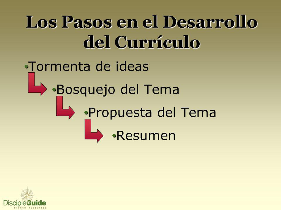 Los Pasos en el Desarrollo del Currículo