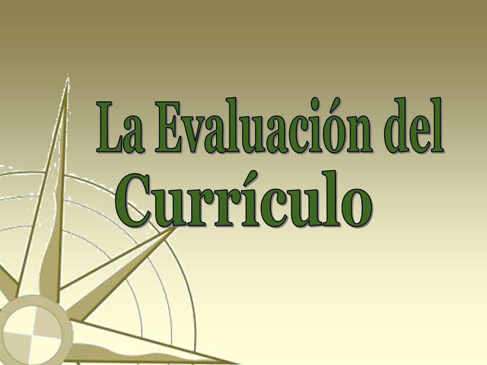 La Evaluación del Currículo