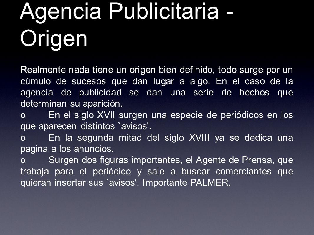 Agencia Publicitaria - Origen