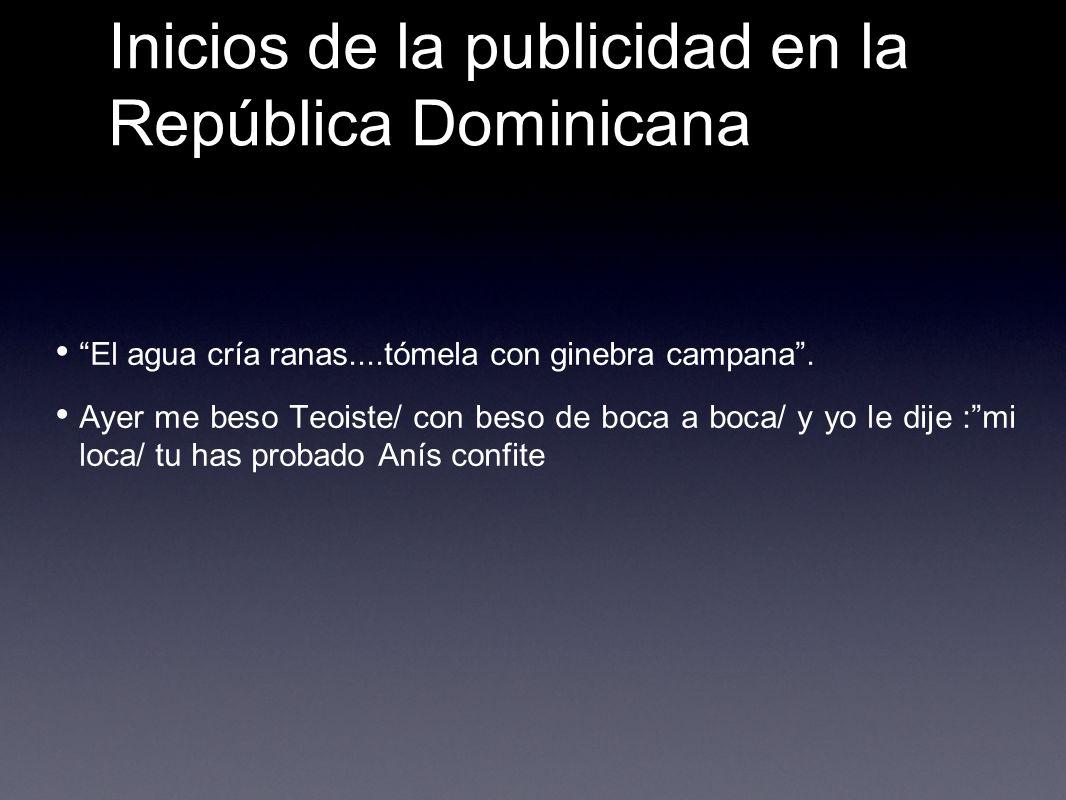 Inicios de la publicidad en la República Dominicana