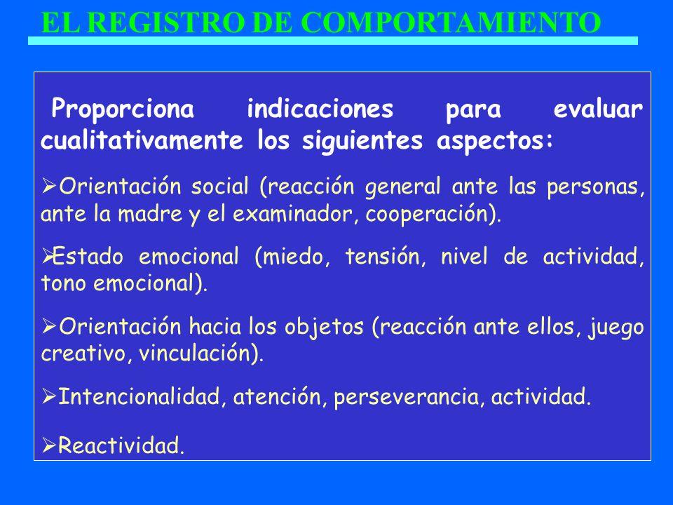 EL REGISTRO DE COMPORTAMIENTO
