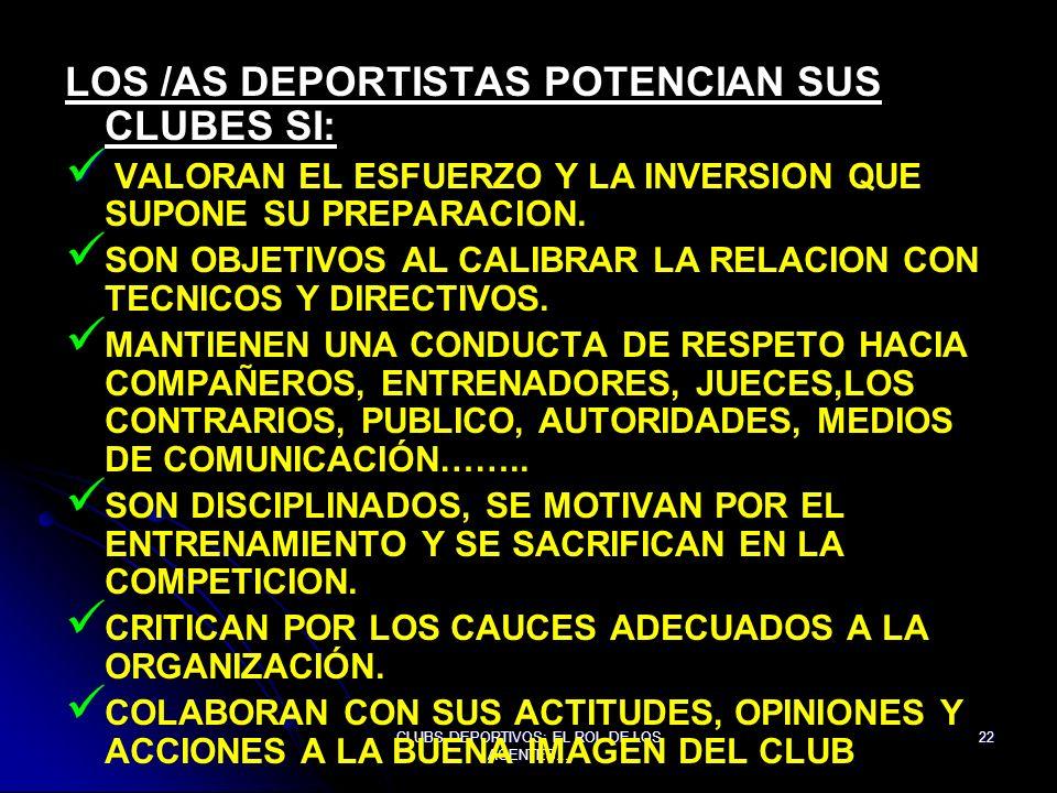 CLUBS DEPORTIVOS: EL ROL DE LOS AGENTES...
