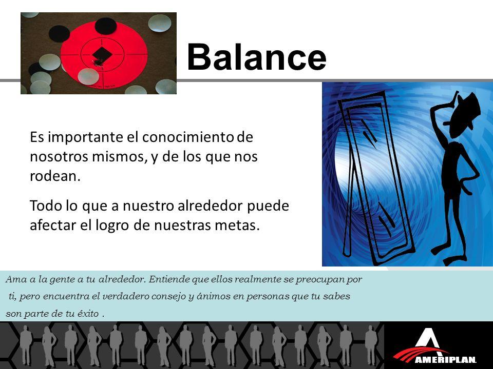Balance Es importante el conocimiento de nosotros mismos, y de los que nos rodean.