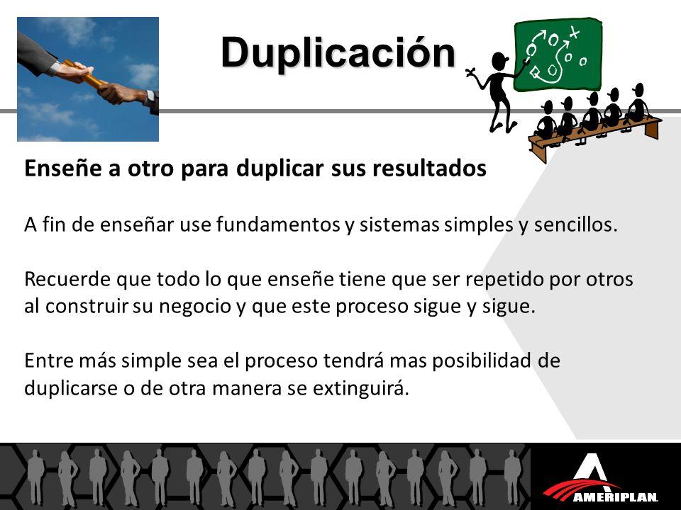 Duplicación Enseñe a otro para duplicar sus resultados