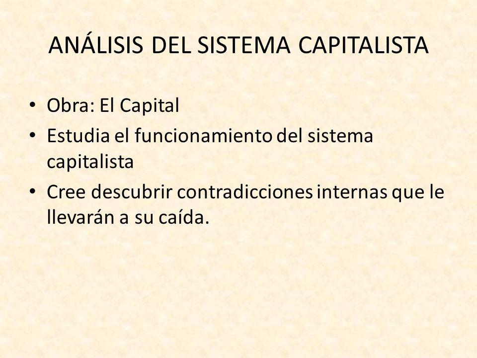 ANÁLISIS DEL SISTEMA CAPITALISTA