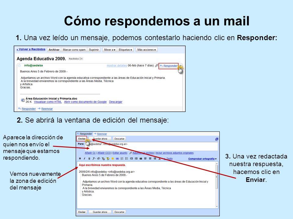 Cómo respondemos a un mail