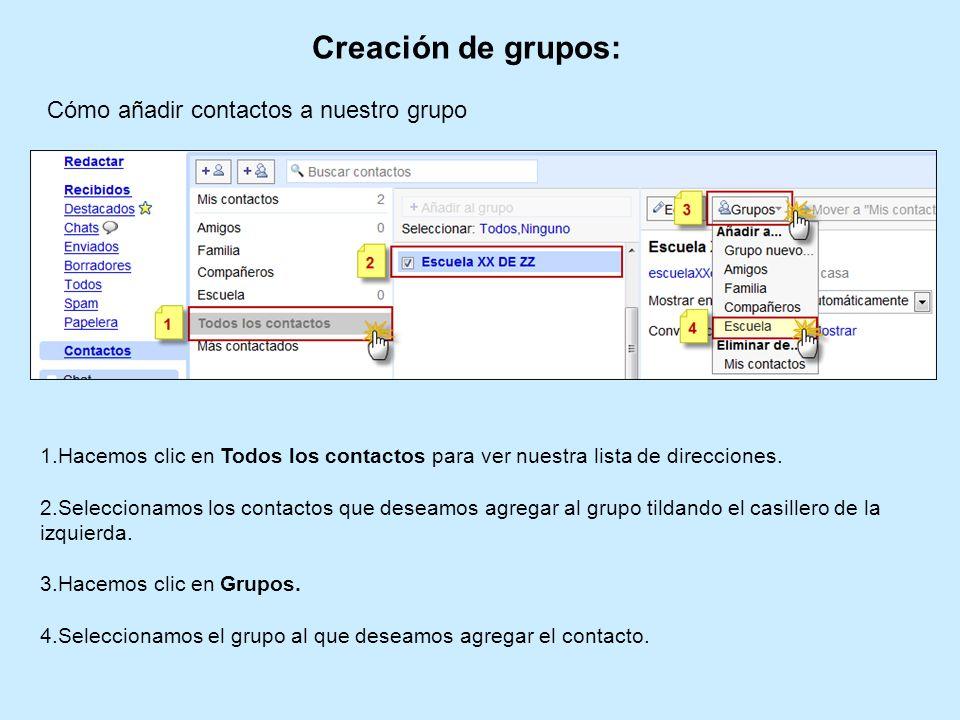 Creación de grupos: Cómo añadir contactos a nuestro grupo