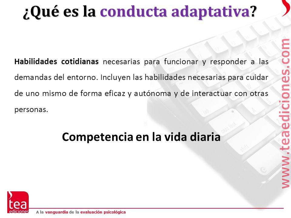 ¿Qué es la conducta adaptativa Competencia en la vida diaria