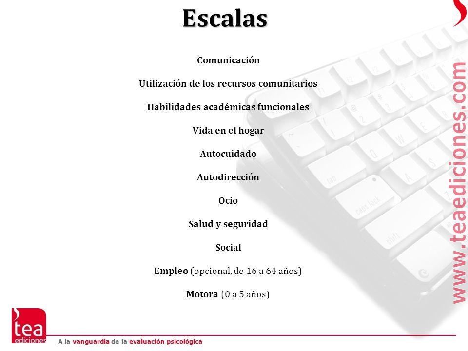 Escalas Comunicación Utilización de los recursos comunitarios