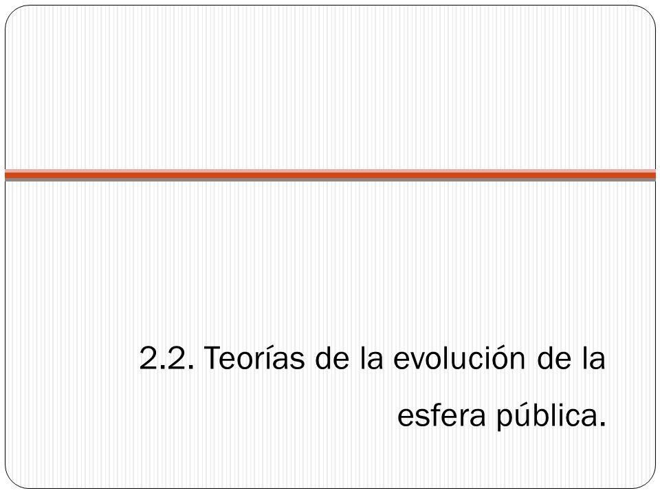 2.2. Teorías de la evolución de la esfera pública.