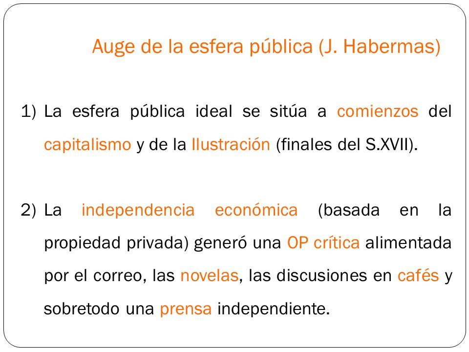 Auge de la esfera pública (J. Habermas)