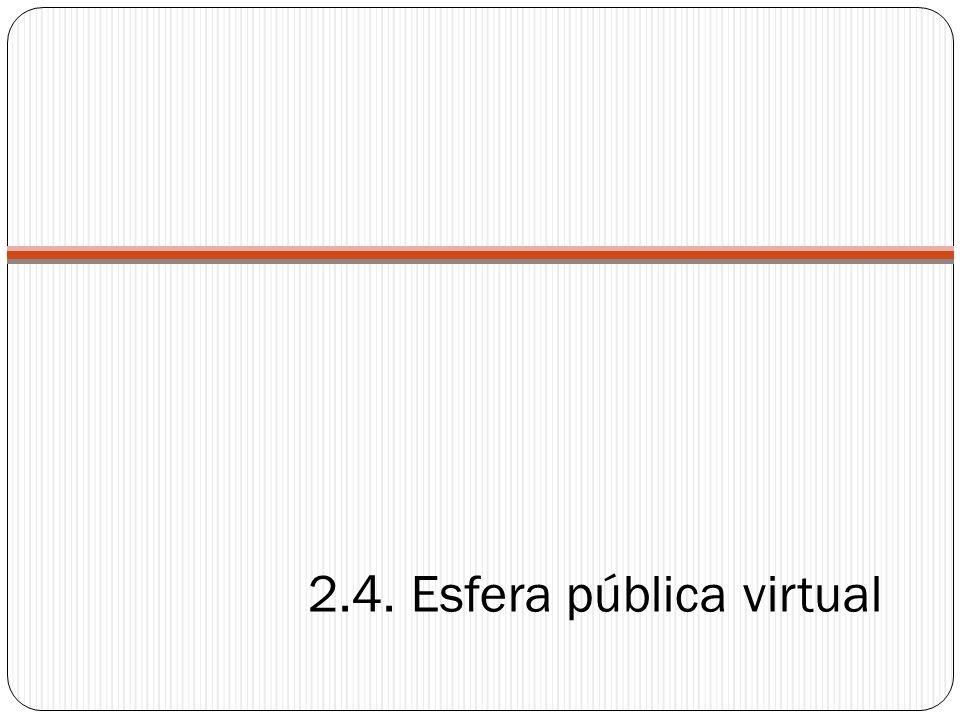 2.4. Esfera pública virtual