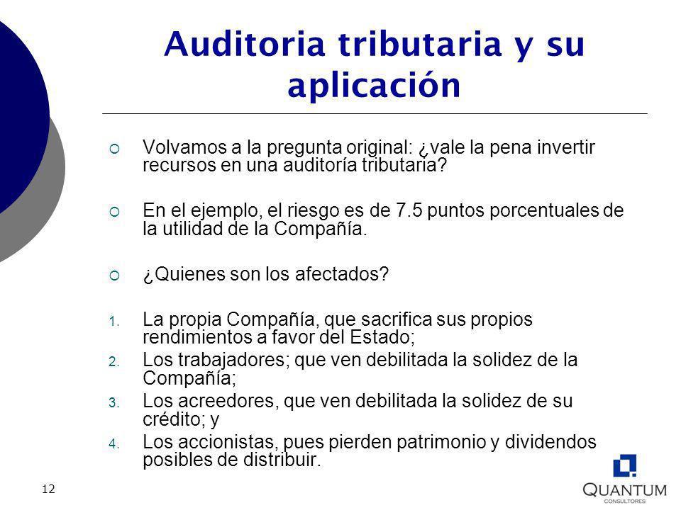 Auditoria tributaria y su aplicación