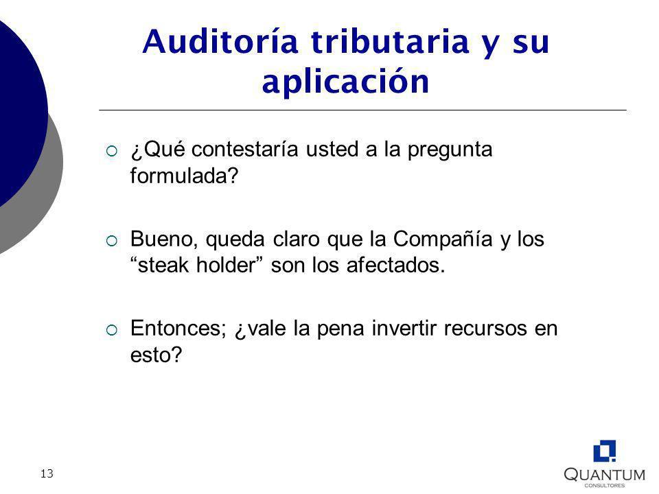 Auditoría tributaria y su aplicación