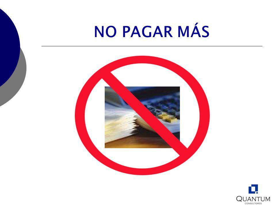 NO PAGAR MÁS