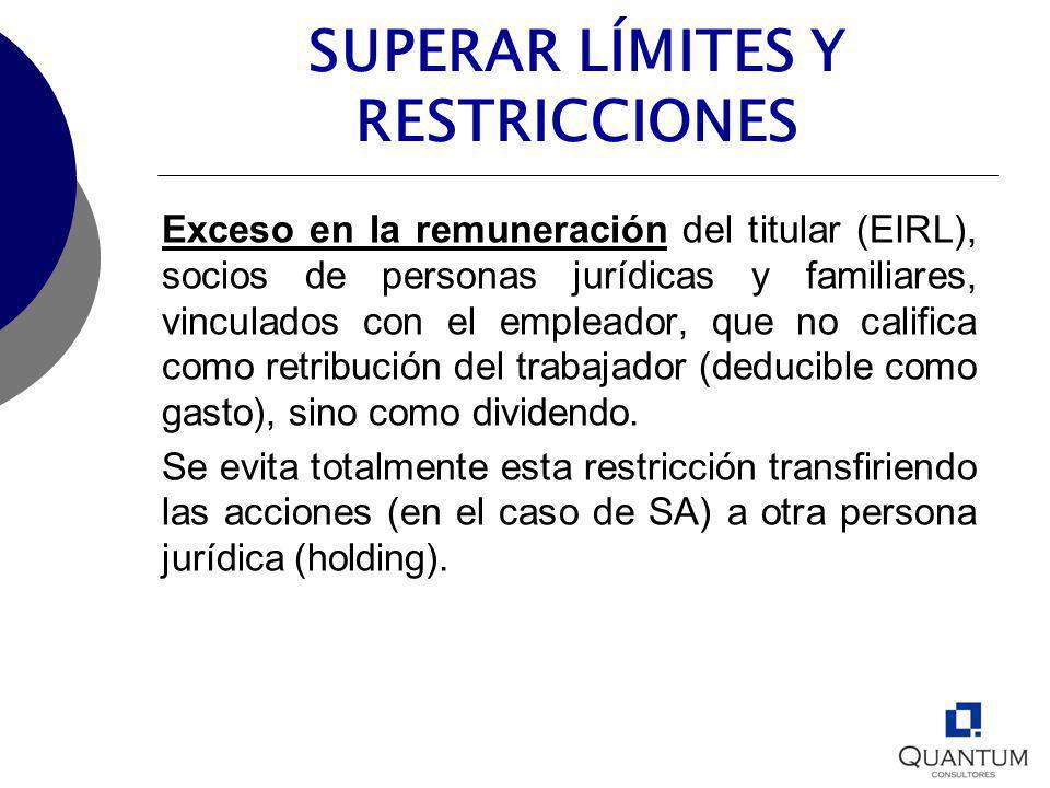 SUPERAR LÍMITES Y RESTRICCIONES