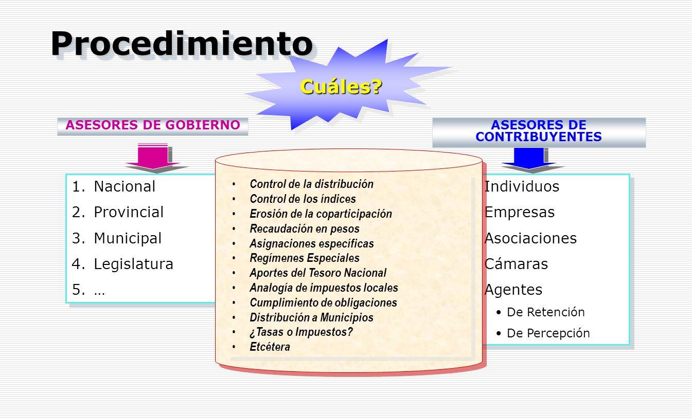 ASESORES DE CONTRIBUYENTES