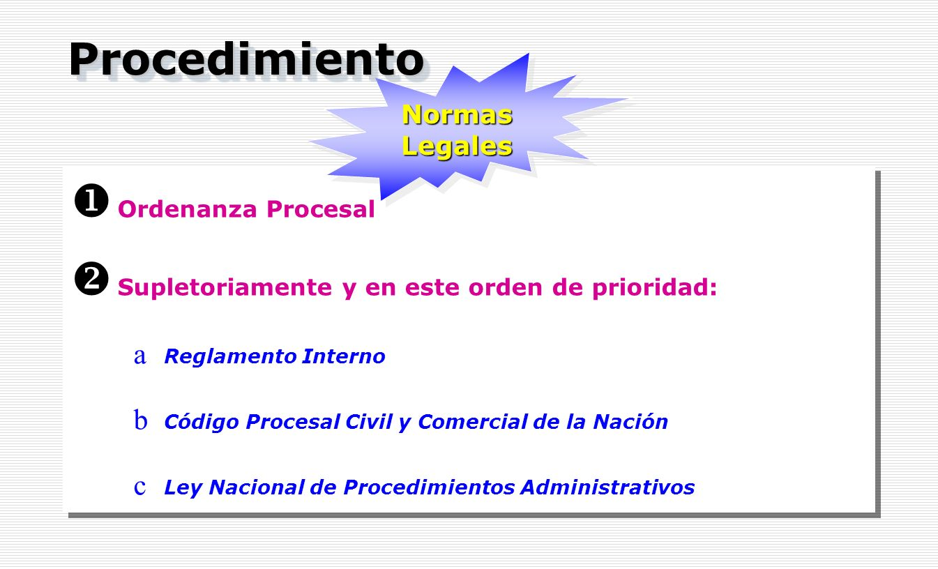 Procedimiento Normas Legales Ordenanza Procesal